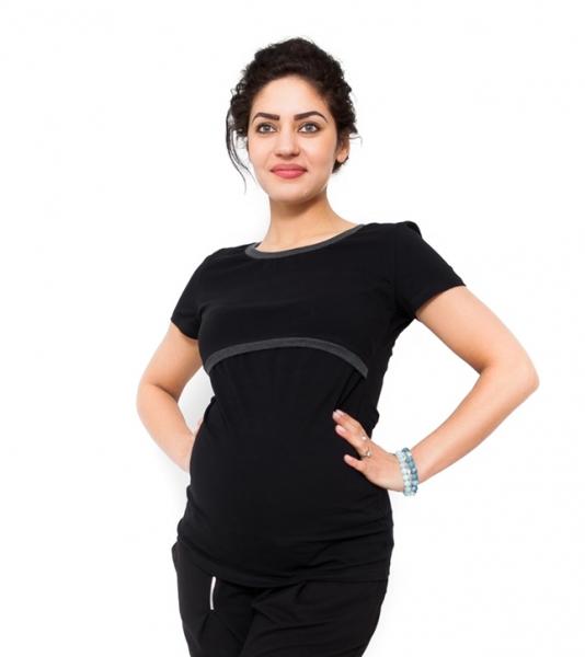 Be MaaMaa Těhotenské a kojící triko Aldona - černá
