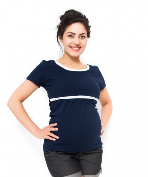 Be MaaMaa Těhotenské a kojící triko Aldona - granát