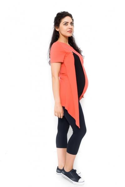 Těhotenská a kojící tunika Aida - korálová
