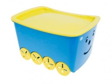 Pojízdný box na hračky Play - modrý (TEGA BQ-005, barva: modrá, objem: 52l)