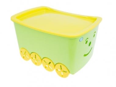 Pojízdný box na hračky Play - zelený (TEGA BQ-005, barva: modrá, objem: 52l)