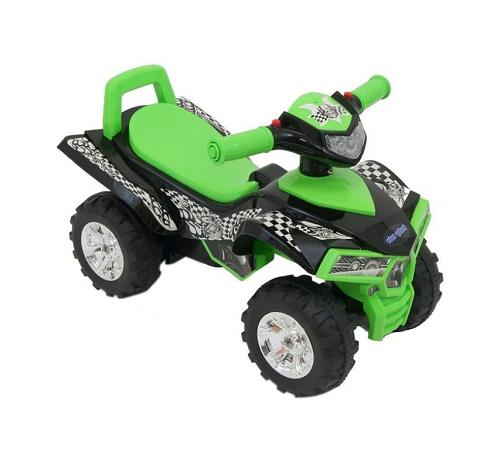 BABY MIX Dětské odrážedlo, čtyřkolka QUAD - zelené
