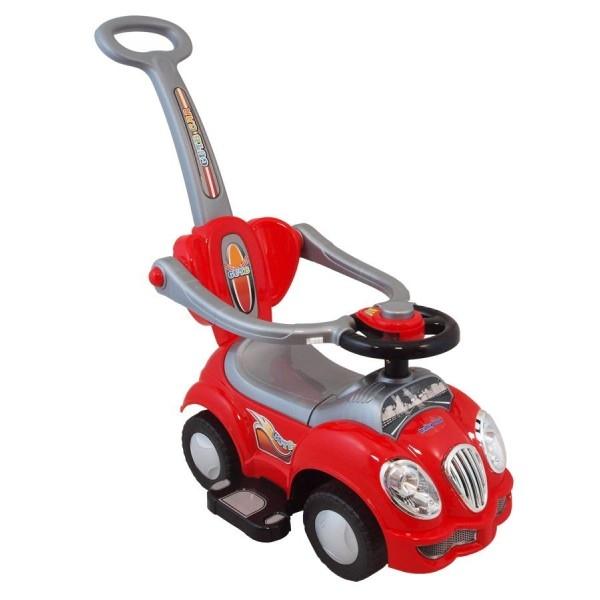 Odstrkovadlo,odrážedlo 2v1 BabyMix - Auto červené