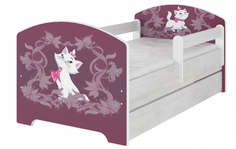 BabyBoo Dětská postel Disney s šuplíkem, 160x80 + pěnová matrace zdarma - MARIE, D19