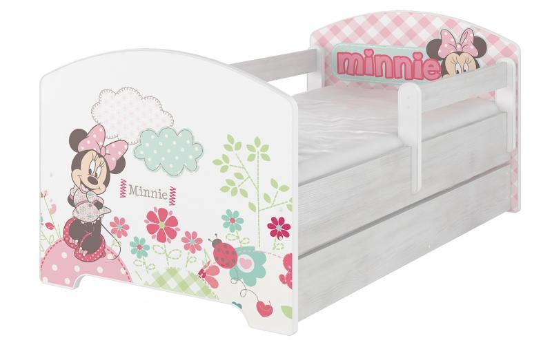 BabyBoo Dětská postel Disney s šuplíkem, 160x80 + pěnová matrace zdarma - Minnie, D19