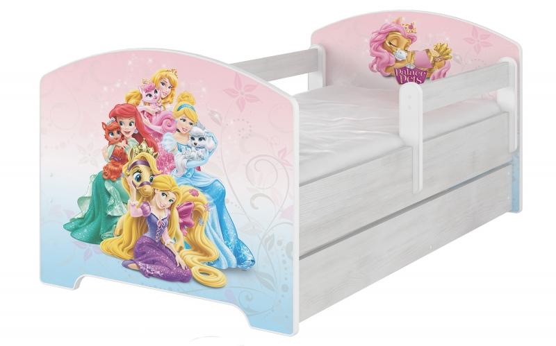 BabyBoo Dětská postel Disney s šuplíkem, 160x80 + pěnová matrace zdarma - Palace Pets, D19
