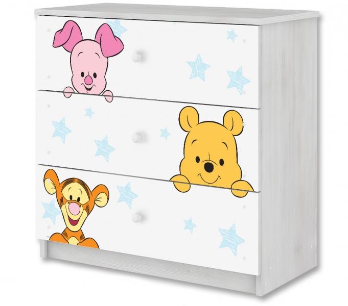 BabyBoo Disney dětská komoda - Baby Medvídek PÚ, D19
