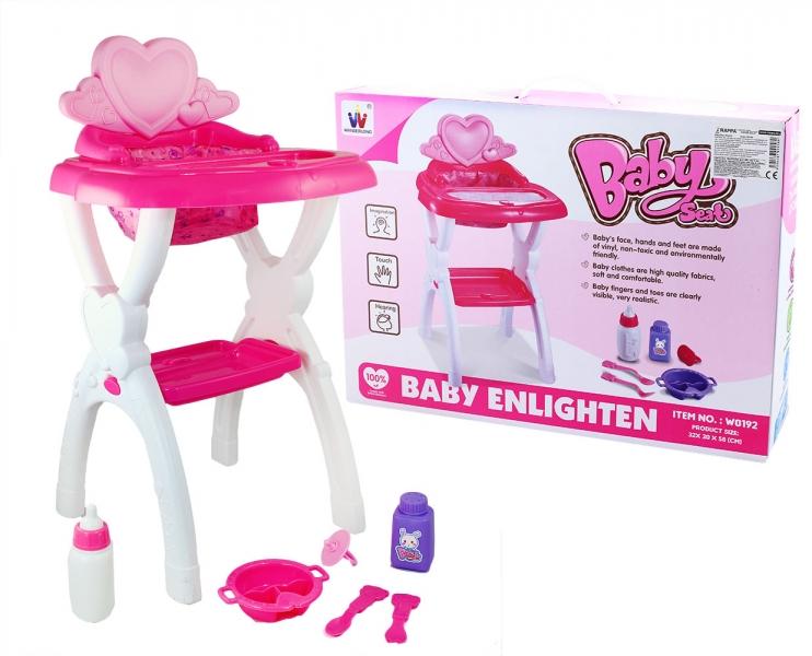 Židlička jídelní pro panenky (1ks)