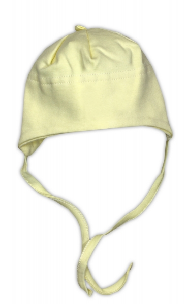 Bavlněná čepička NICOL - žlutá, Velikost: 52
