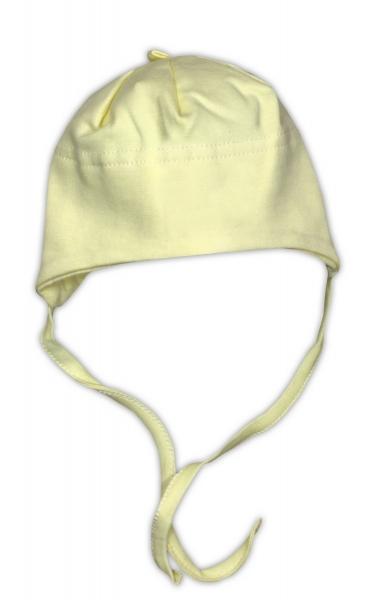 Bavlněná čepička NICOL - žlutá, Velikost: 62 (2-3m)