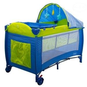 Dětská cestovní postýlka DREAM - modrá