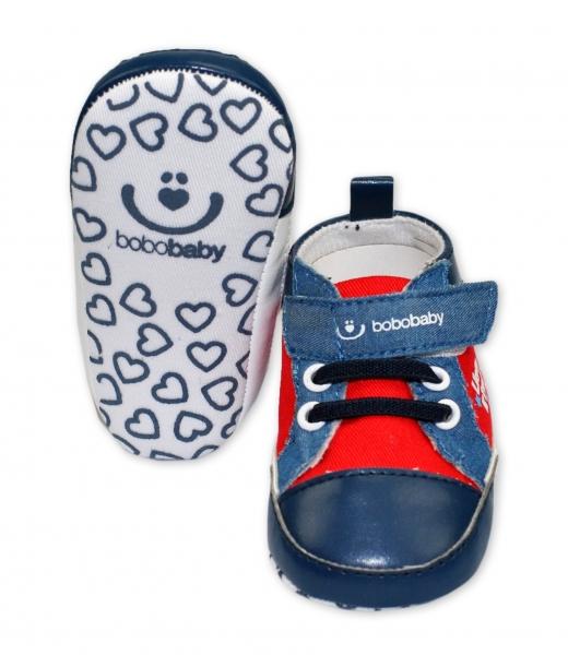 Capačky/botičky BOBO BABY - Tenisky - Lion King - modro/červené, Velikost: 12/18měsíců