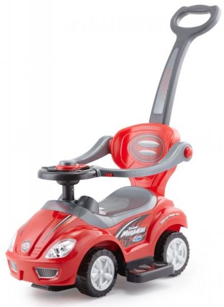 Eco toys Jezdítko, odstrkovadlo, odrážedlo 3v1 Mega Car červené