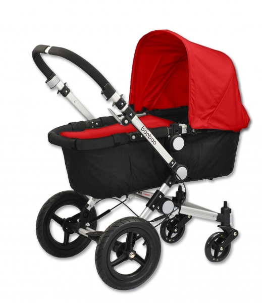 Euro Baby Dětský kočárek BAOBAO Standart - červený