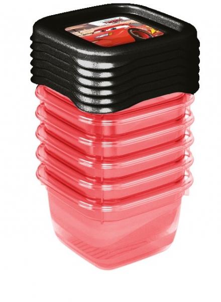 Keeeper Sada plastových krabiček Cars 0,1l - 6 ks