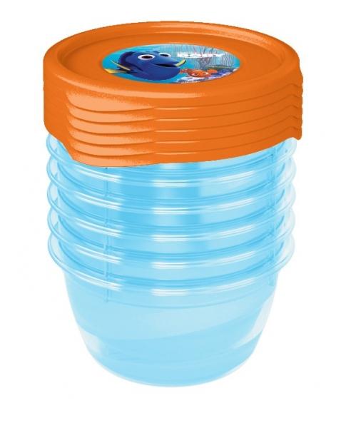 Sada plastových krabiček Hledá se Dory 0,5l - 5 ks