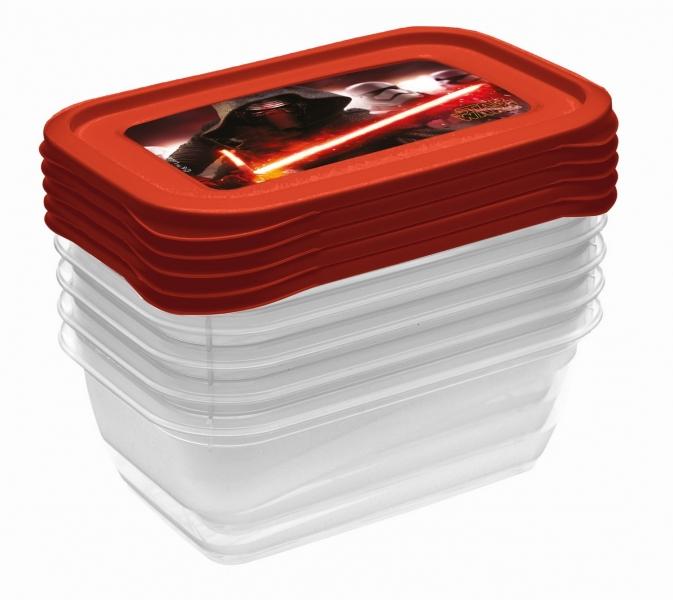 Sada plastových krabiček Star Wars 0,5l - 5 ks