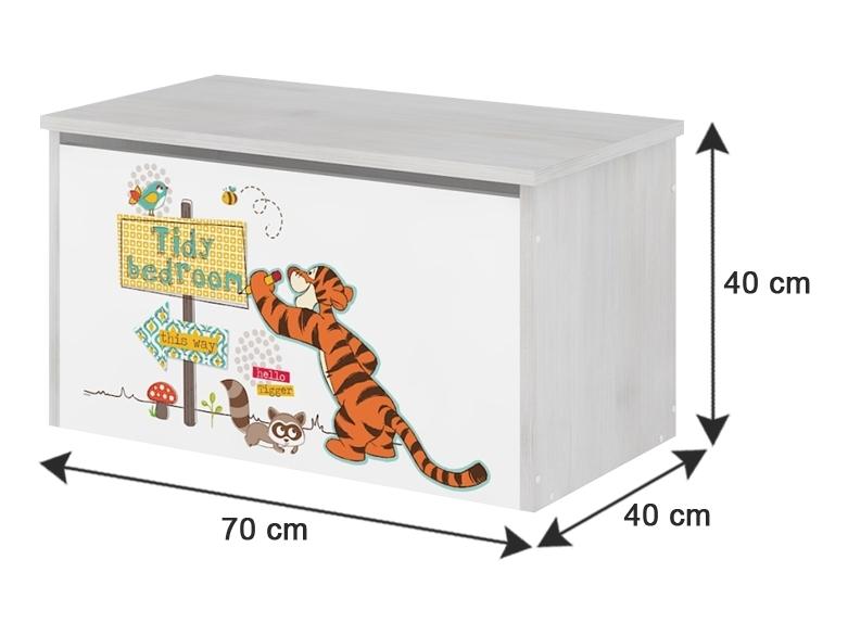 BabyBoo Box na hračky, truhla Disney - Medvídek PÚ a prasátko, D19