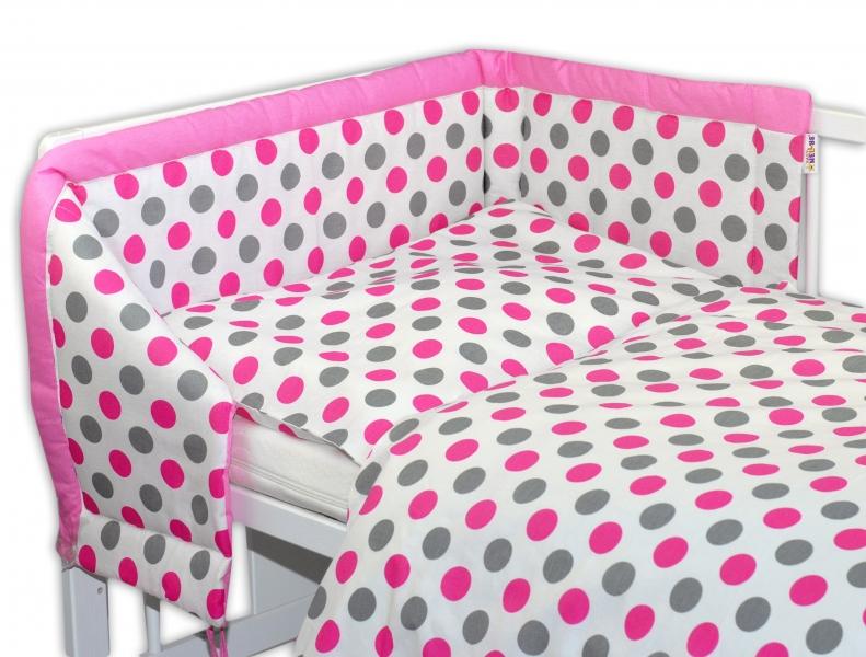 Mantinel s povlečením Baby Nellys ® Puntíky Baby - růžový