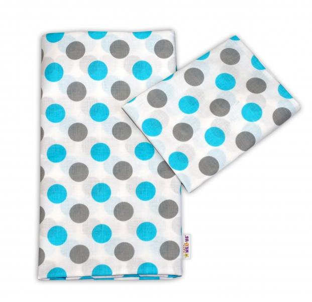 Bavlněné povlečení Baby Nellys ® Puntíky Baby - modré