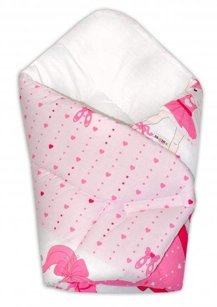 Novorozenecká zavinovačka Baby Nellys ®- Baletka - růžová, Velikost: Klasické