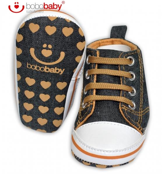 Capačky/botičky BOBO BABY - Tenisky jeans - Hvězdička