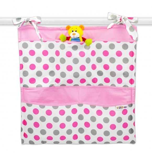 Kapsář Baby Nellys ® Puntíky Baby - růžový