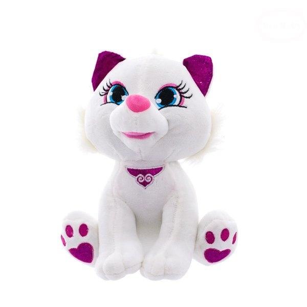 Euro Baby Plyšová kočička 30cm - bílá, Ce19