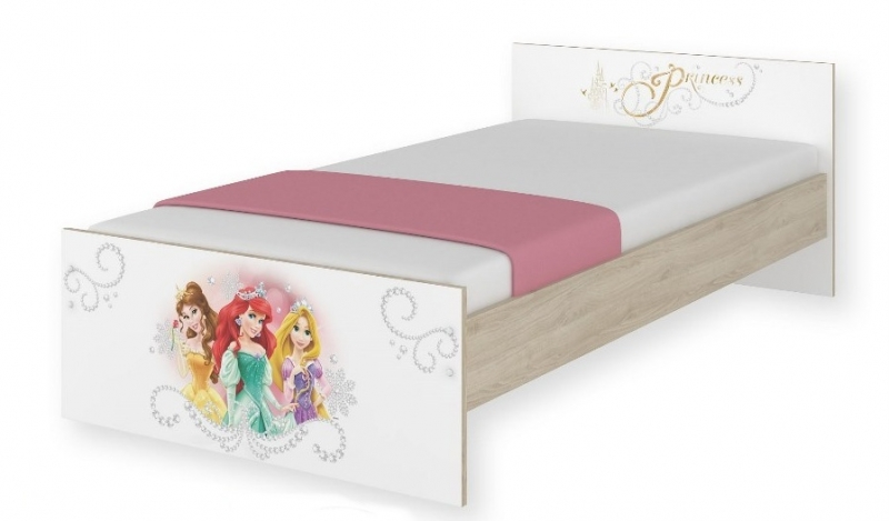 BabyBoo Dětská junior postel Disney 180x90cm - Princess, D19
