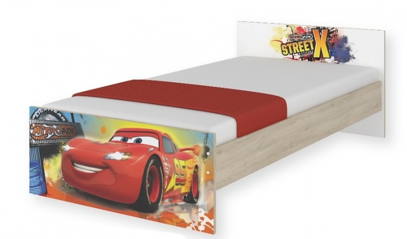 Dětská junior postel Disney 180x90cm - Cars
