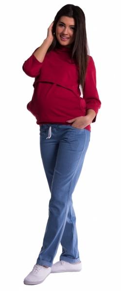 Be MaaMaa Těhotenské kalhoty - světlý jeans