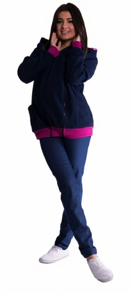 Mikina s kapucí nejen pro těhotné - granát