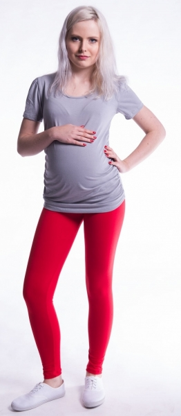 Těhotenské legíny - červené, vel. L