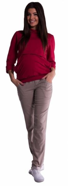 Těhotenské kalhoty - béžové