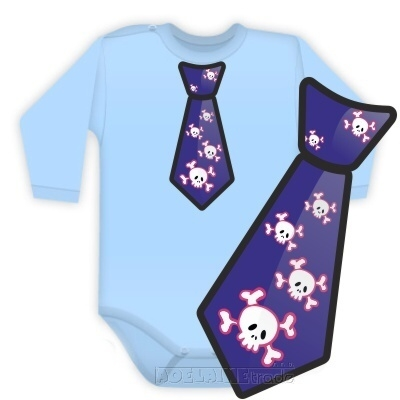 Baby Dejna Body dlouhý rukáv kravata COOL - sv. modré