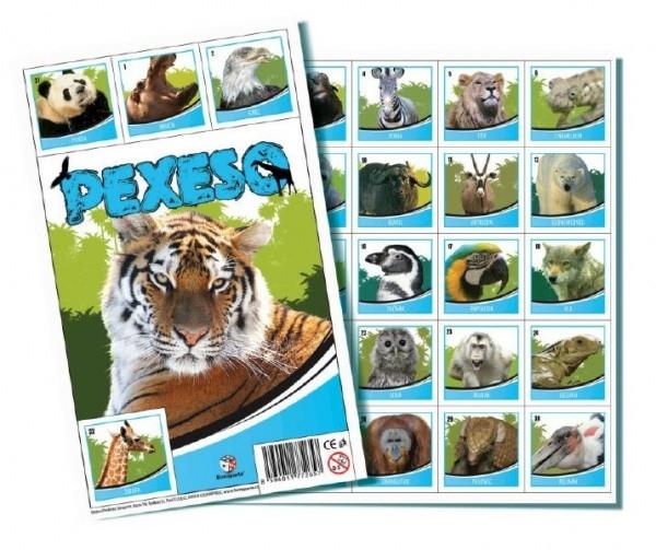 Pexeso  ZOO společenská hra 32 obrázkových dvojic 26x23cm