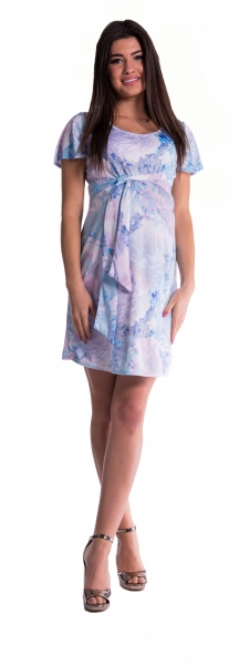 Be MaaMaa Těhotenské šaty s květinovým potiskem s mašlí  - blankyt