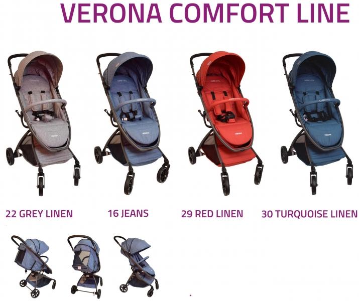 Coto Baby Kočárek  Verona 2017 Comfort Line - Red Linen
