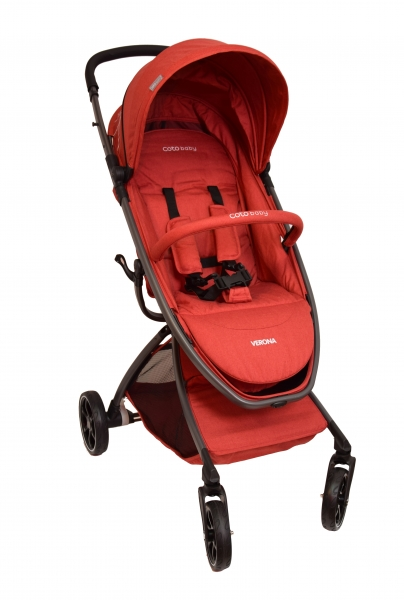 Coto Baby Kočárek  VERONA Comfort Line - Red Linen