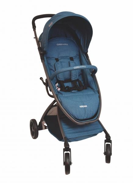 Coto Baby Kočárek  VERONA Comfort Line - Turquoise Linen