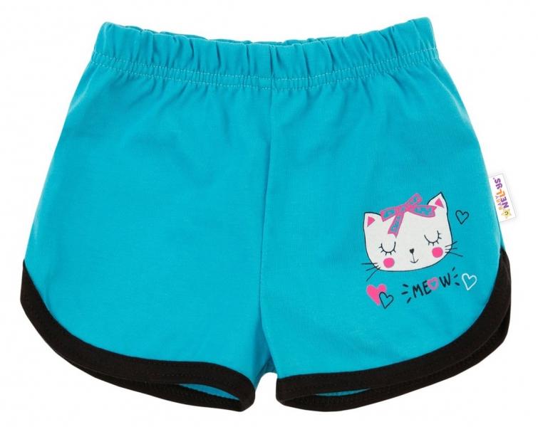 Bavlněné kraťásky Baby Nellys ®- Kočička