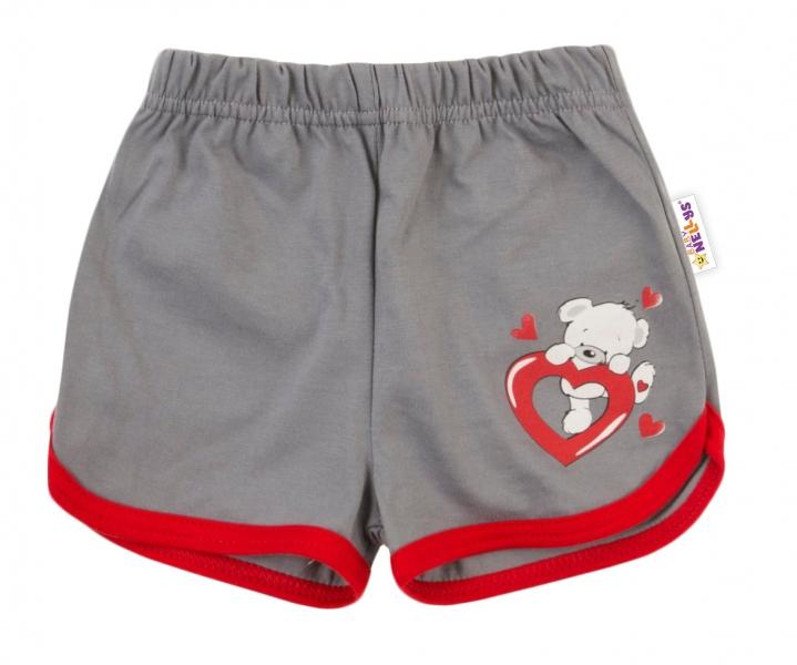 Bavlněné kraťásky Baby Nellys ®- Medvídek