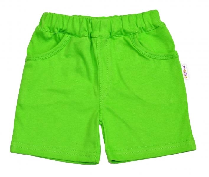 Bavlněné kraťásky Baby Nellys ® - zelené
