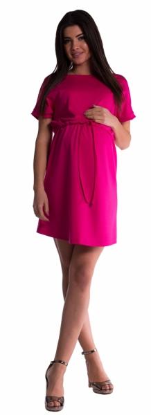 Be MaaMaa Těhotenské šaty s vázáním - amarant - vel. S