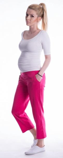 Be MaaMaa Těhotenské 7/8 bederní kalhoty - amarant, Velikost: M (38)