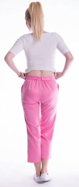 Be MaaMaa Těhotenské 7/8 bederní kalhoty - amarant, vel. L