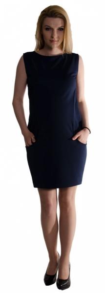 Be MaaMaa Těhotenské letní šaty s kapsami - granát