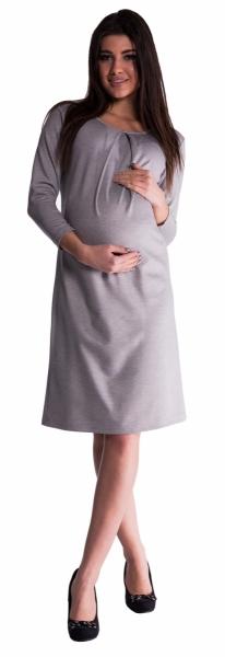 Be MaaMaa Těhotenské šaty - šedé