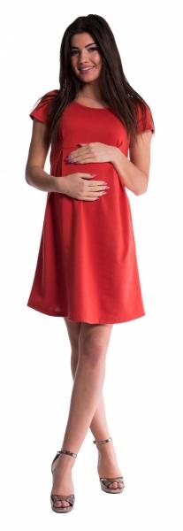 Těhotenské šaty - cihlové