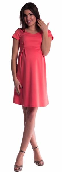 Těhotenské šaty - korál